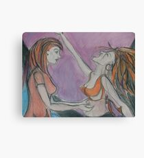 Meeting the Mad Woman Upclose Canvas Print