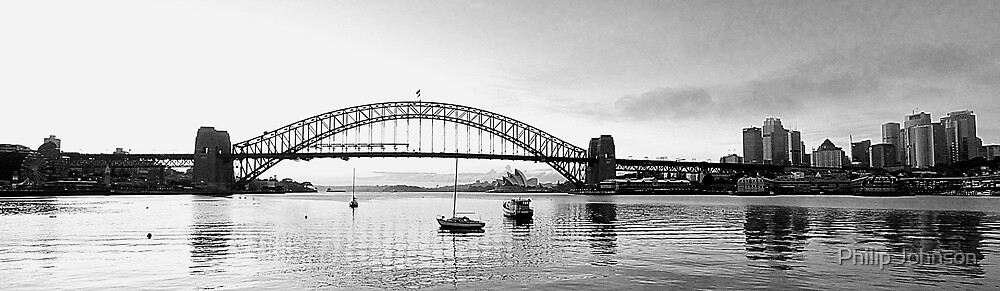 The Bridge - A Study In Black and White  by Philip Johnson