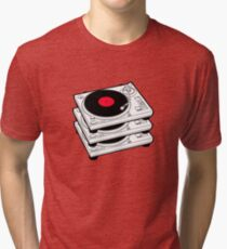 GRAMOPHONES RECORD PLAYERS Tri-blend T-Shirt