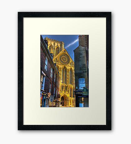 Rose Window - York Minster Framed Print
