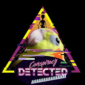 conspiracy birb - vaporwave by FandomizedRose