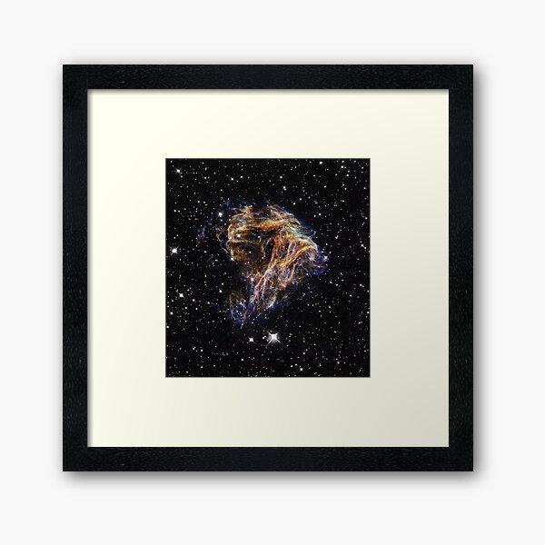 Supernova Fireworks N49 - Hubble Telescope HST  Framed Art Print