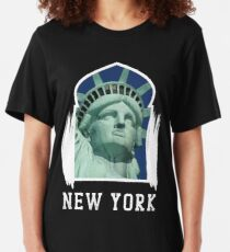 New York City, New York Gifts, New York Gift For Women  Slim Fit T-Shirt