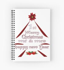 1 st Merry Christmas Mr & Mrs, happy new year Spiral Notebook