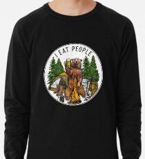 Kampieren ich esse Leute, die ich Leute T-Shirt hasse Leichtes Sweatshirt
