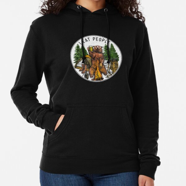 Camping I Eat People I Hate People T-Shirt Lightweight Hoodie