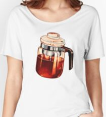 Coffee Percolator Pattern Women's Relaxed Fit T-Shirt