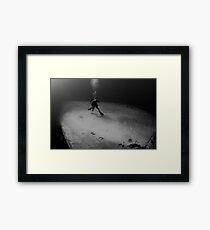 Wreck Diver Framed Print