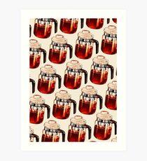 Coffee Percolator Pattern Art Print