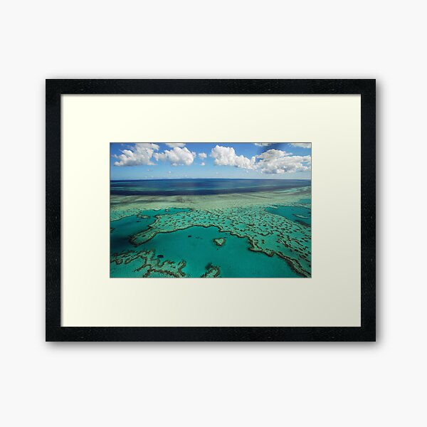 Heart Reef, Great Barrier Reef, Whitsundays Framed Art Print