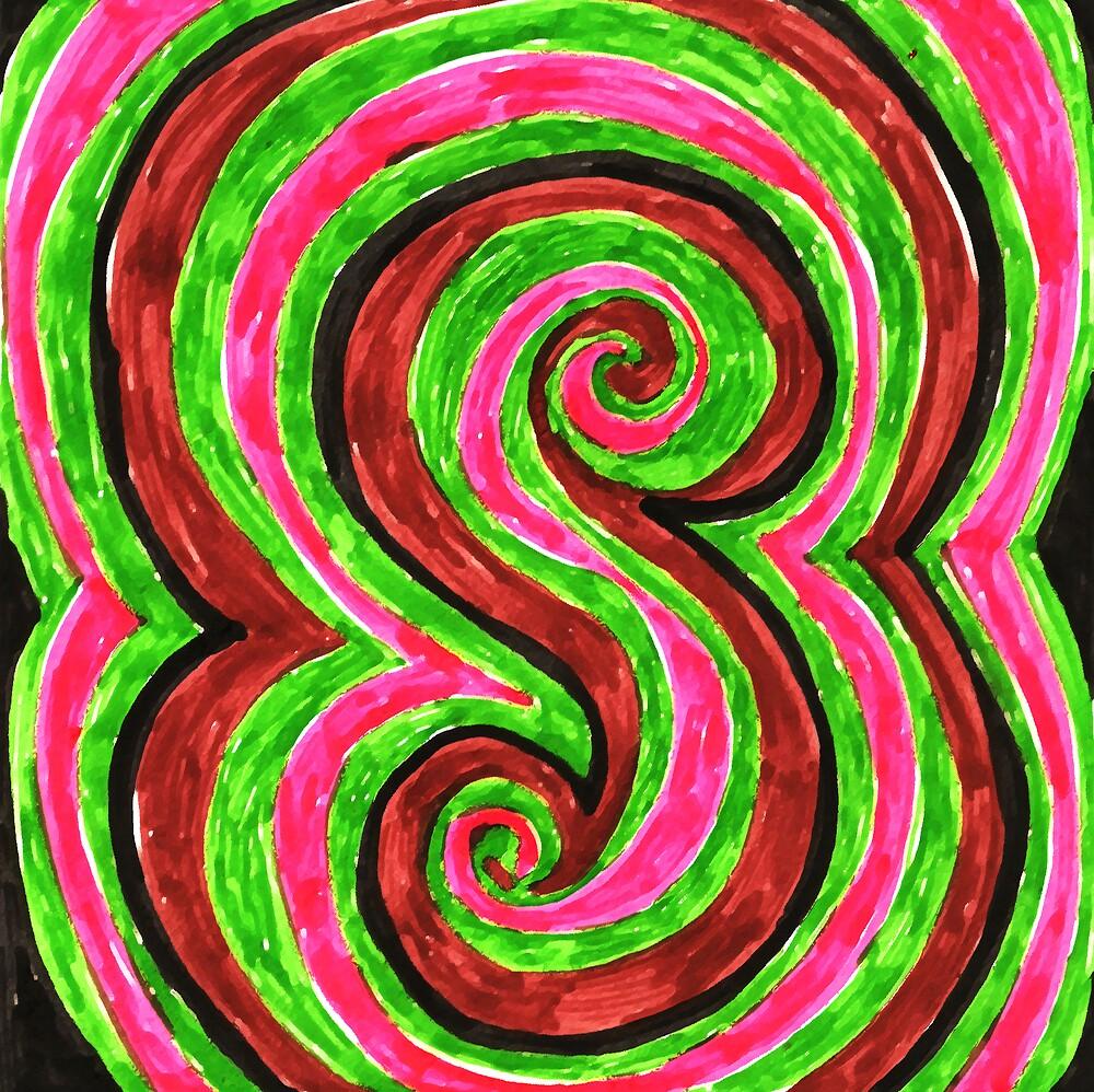 sixties swirls 01 by aloeART