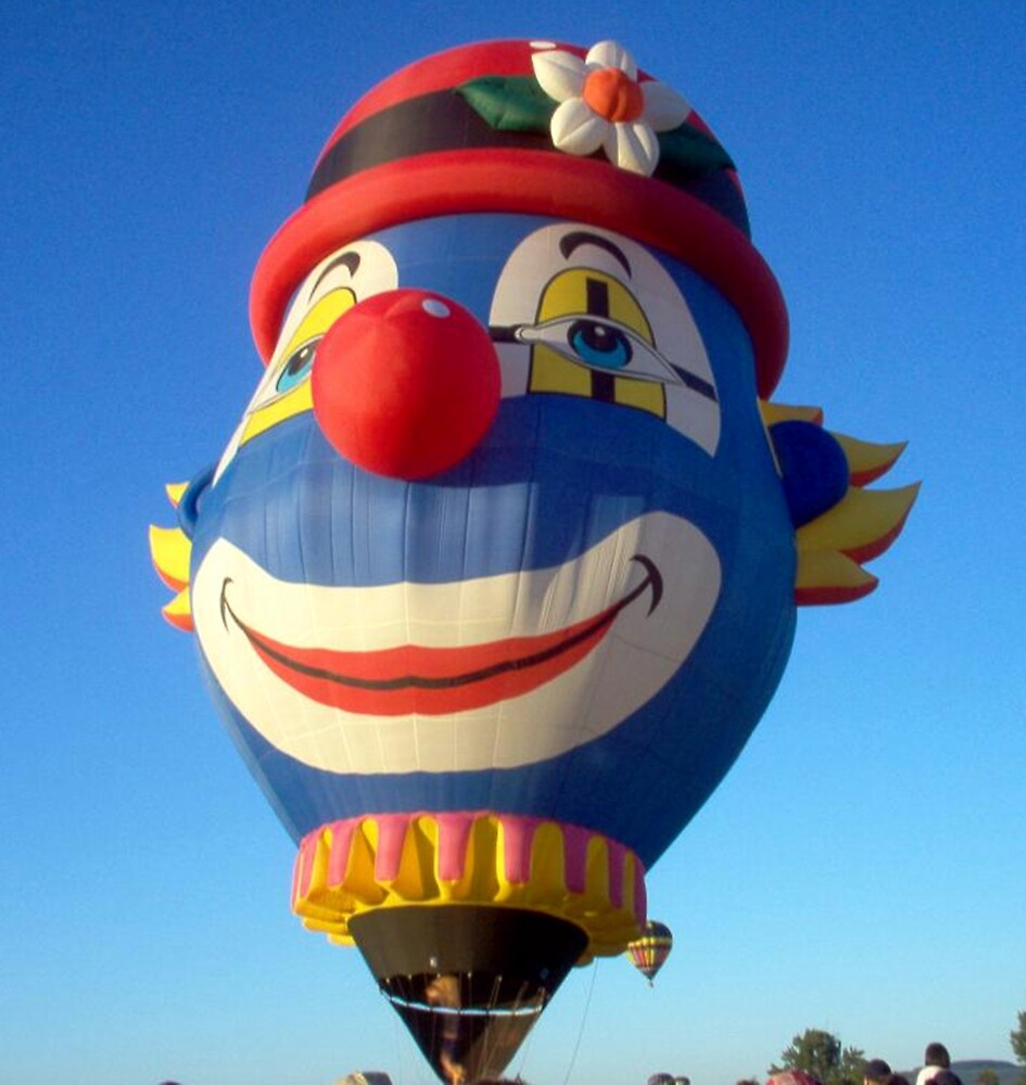 Clown Hot Air Balloon by Sherry Seely