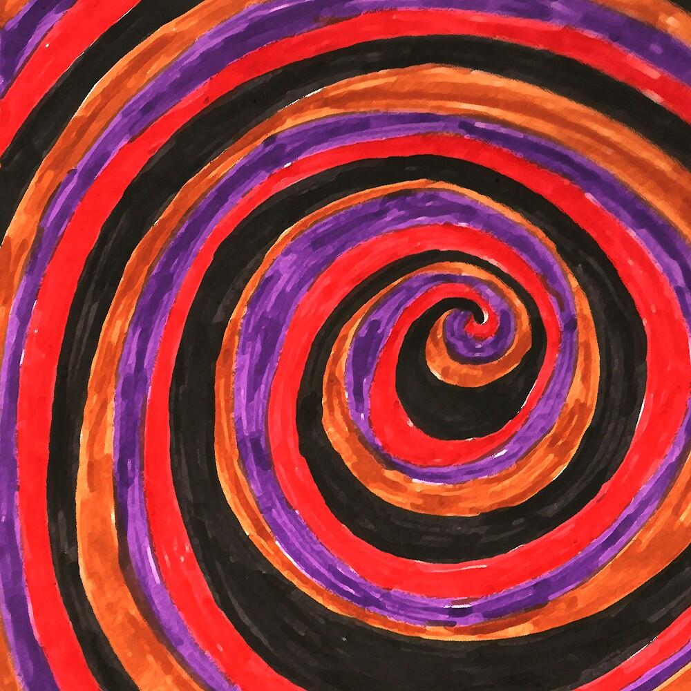 sixties swirls 03  by aloeART