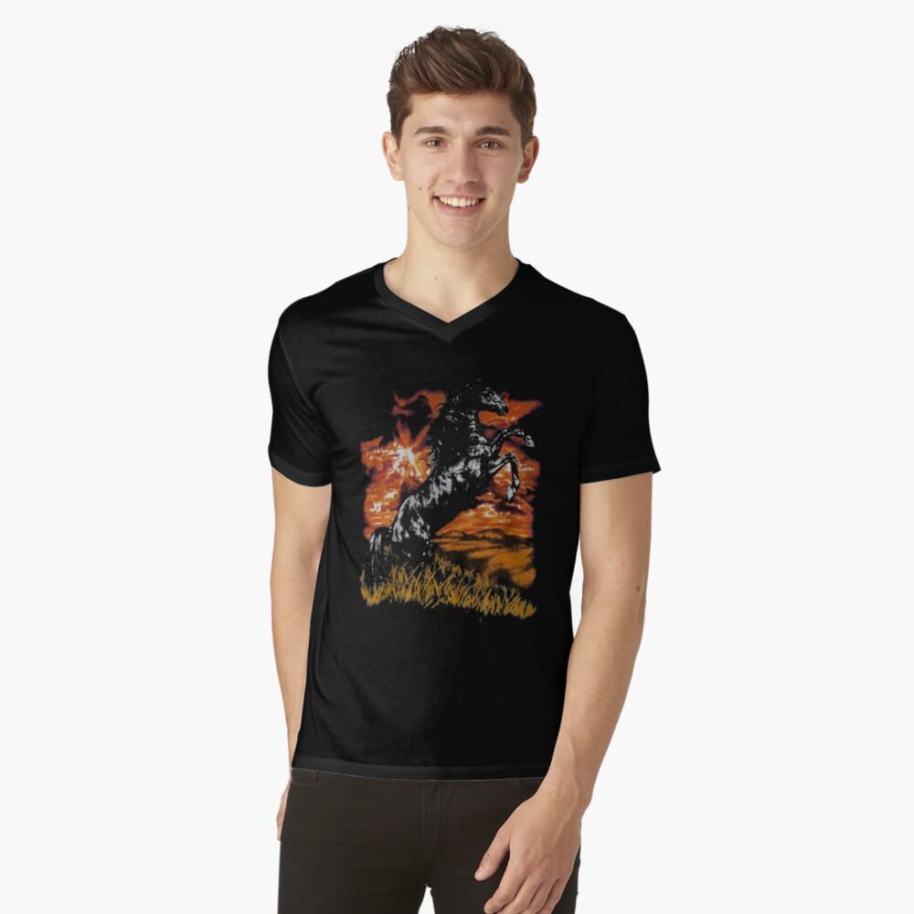 the horse art V-Neck T-Shirt