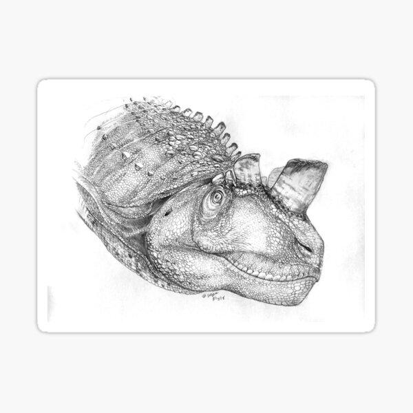 Ceratosaurus - The Crested Adjudicator Sticker