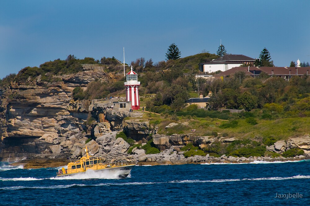Red & White Lighthouse Sydney Harbour by Jaxybelle