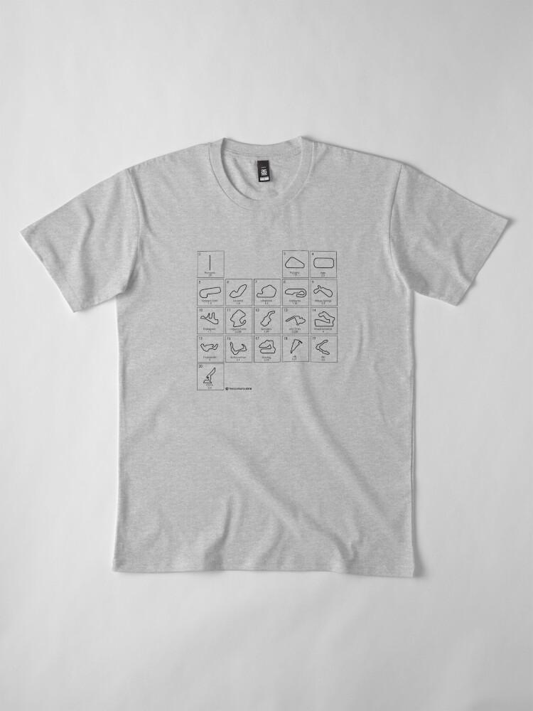 Alternate view of Elements of Racing - Black Premium T-Shirt