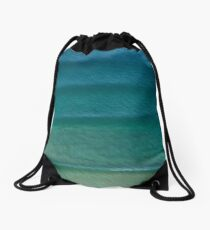NE Beach Lines Drawstring Bag