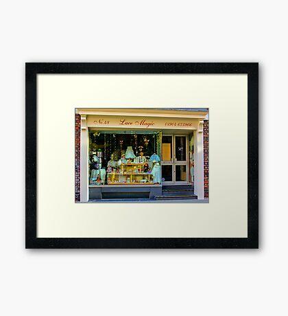 Lace Magic - York. Framed Print