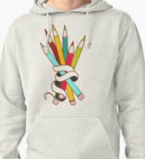 Colored Pencils Bouquet  Pullover Hoodie