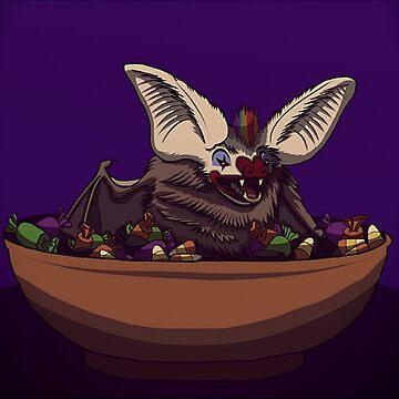 Trick or treat bat clown by Tarajillian