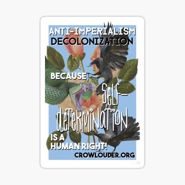 Vintage CROW - Anti-Imperialism/Decolonize Sticker
