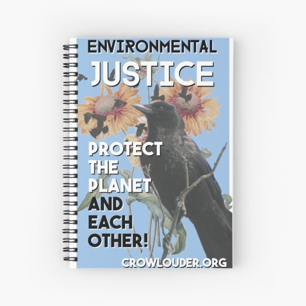 Vintage CROW - Environmental Justice Spiral Notebook
