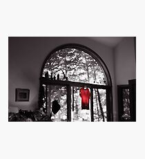 Red Shirt in an Arched Window Photographic Print