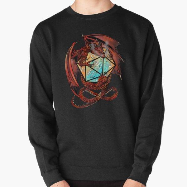 Red Dragon Dice Pullover Sweatshirt