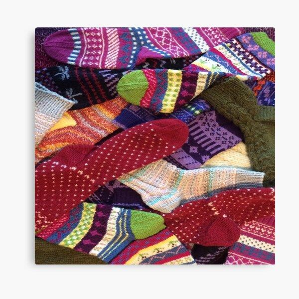 Sock Addict -Hand knit socks available at tinasox.etsy.com Canvas Print