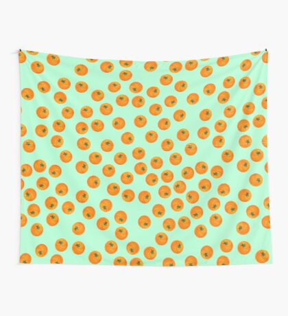 Cascading Oranges Wall Tapestry