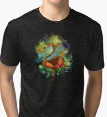 Galactic Flamingo  Tri-blend T-Shirt