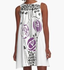 Charles Rennie Mackintosh Roses 4. A-Line Dress
