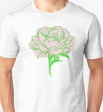 Green and Pink Flower Unisex T-Shirt
