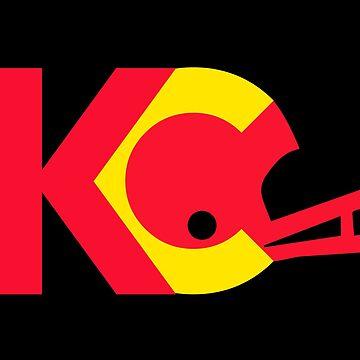 KC Chiefs: Helmet Logo by SkipHarvey