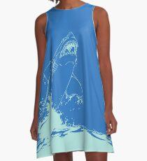 Landshark Dress | Powder Blue A-Line Dress