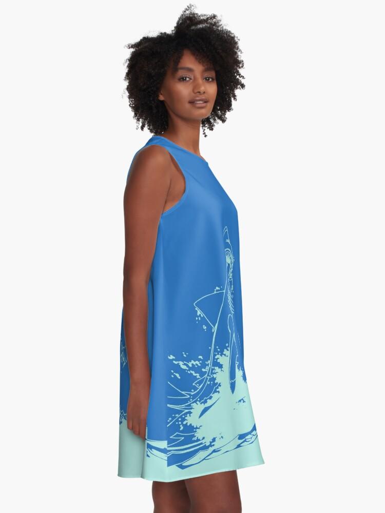 Alternative Ansicht von Landshark Kleid | Pulverblau A-Linien Kleid