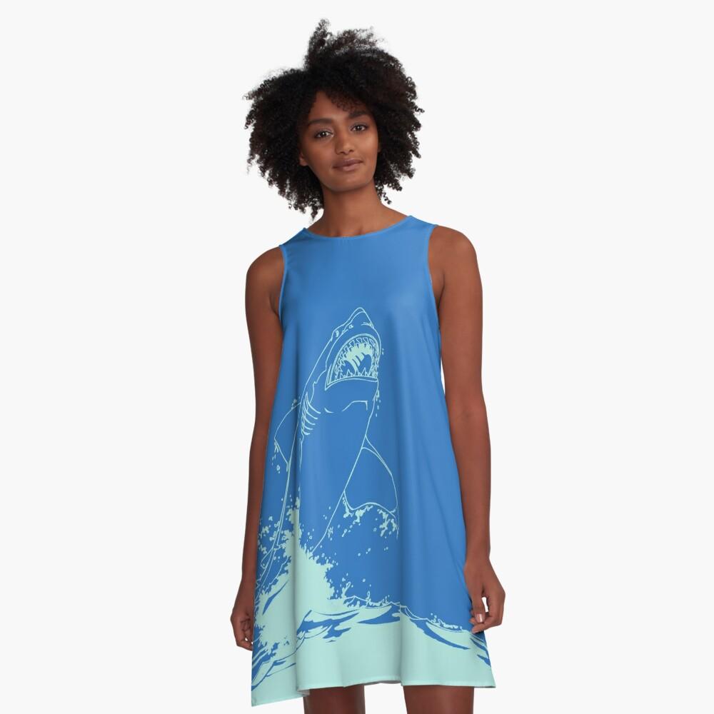 Landshark Kleid | Pulverblau A-Linien Kleid