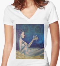 """Sandcastles""  from ""Whispers"" series Women's Fitted V-Neck T-Shirt"