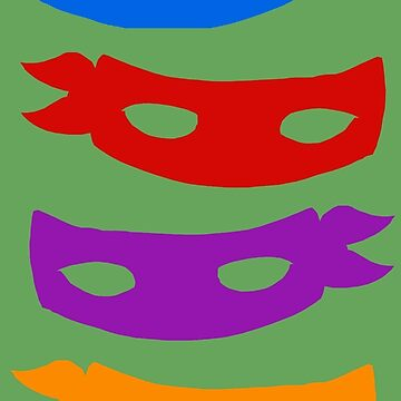 The Turtle's Masks by thatKONNORguy