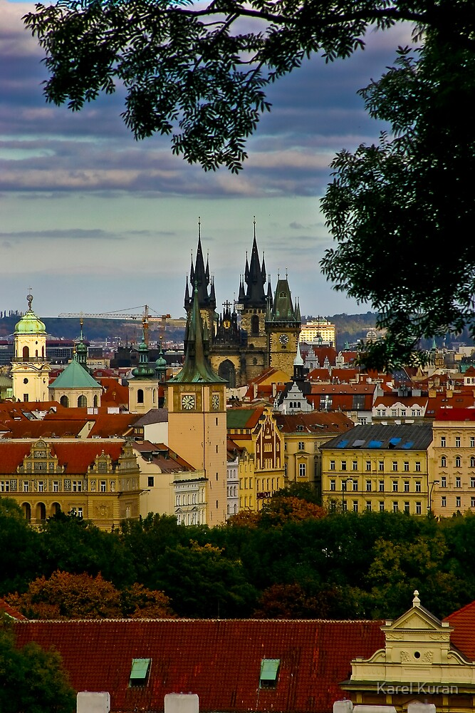 Prague Castle from the top of the steps by Karel Kuran