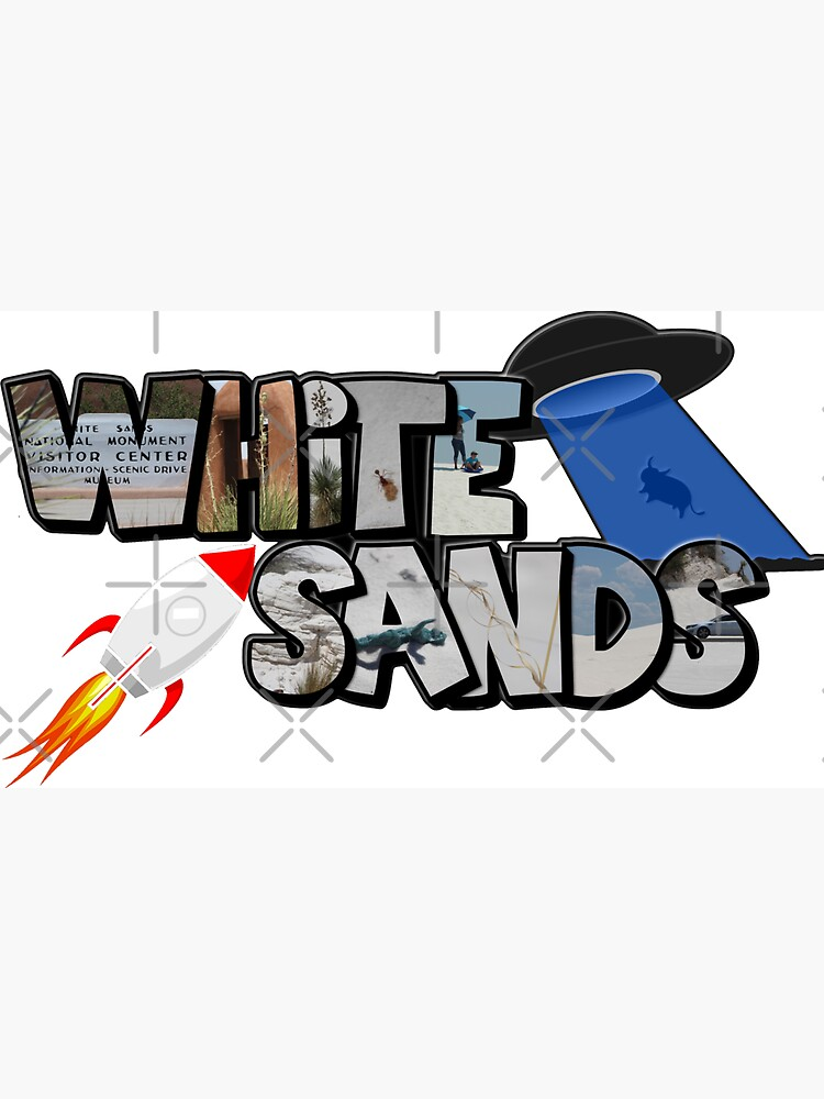 Big Letter White Sands (New Mexico) by ButterflysAttic