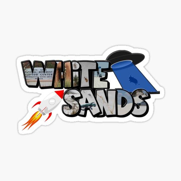 Big Letter White Sands (New Mexico) Sticker