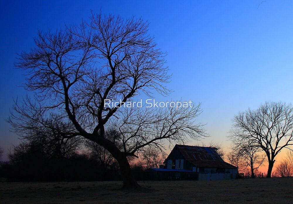 Sunset Barn by Richard Skoropat