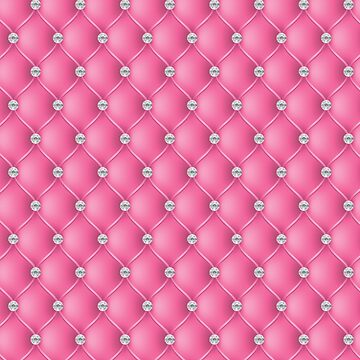 Elegant Hot Pink Diamond Tufted Look Upholstery Pattern by jollypockets