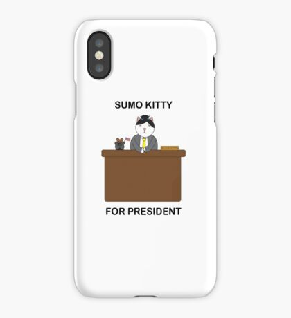 Sumo Kitty For President iPhone Case/Skin
