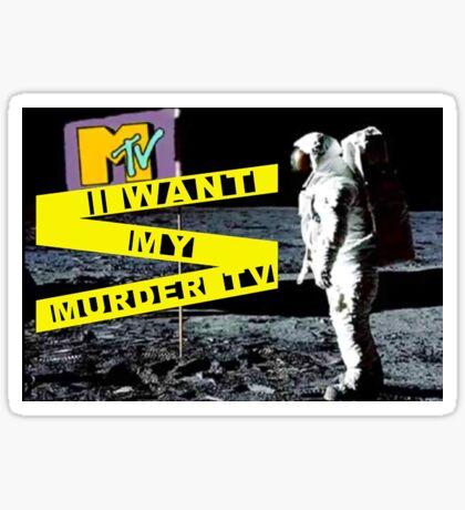 Murder TV Moon Man  Sticker