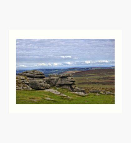 View from Haytor, Dartmoor, Devon Art Print