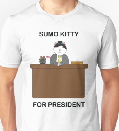 Sumo Kitty For President T-Shirt