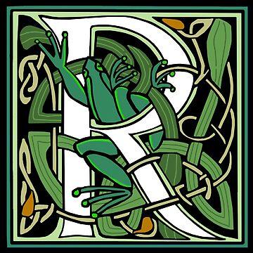 Celtic Nouveau Frog Letter R 2018 by Donnahuntriss